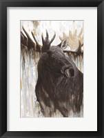 Framed Gilded Moose