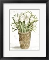Tulip Basket Framed Print