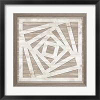 Geo Greige Deco 3 Framed Print