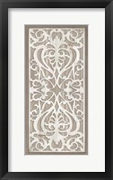 Geo Greige Deco Panel 3 Framed Print