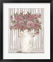 Pink Posies I Framed Print