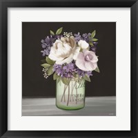 Framed Lilac Mason Jar Floral