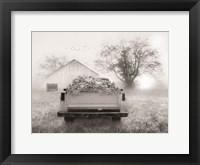 Framed Foggy Morning Sunrise