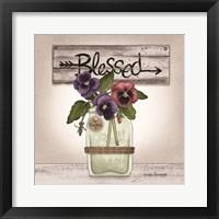 Framed Pansy Blessing