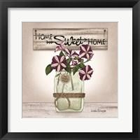 Petunias in Jar Framed Print