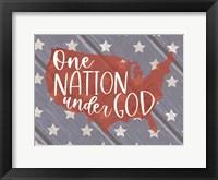 Framed One Nation Under God