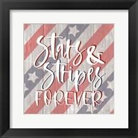 Framed Stars and Stripes Forever I