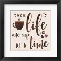 One Cup at a Time Framed Print