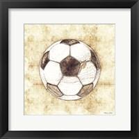 Soccer Sketch Framed Print