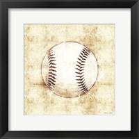 Baseball Sketch Framed Print