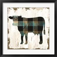 Farm Fashion Cow Framed Print