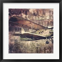 Framed Vintage Fixed Wing Airplane