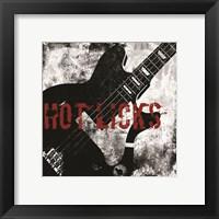Framed Hot Licks Guitar
