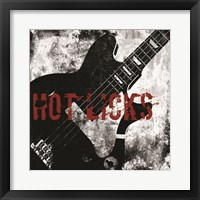 Hot Licks Guitar Framed Print