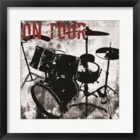 On Tour Drums Framed Print