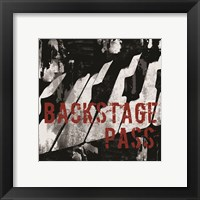 Framed Backstage Pass Piano