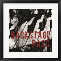 Backstage Pass Piano Framed Print