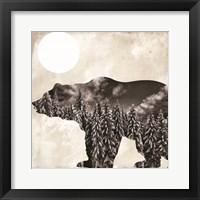 Going Wild Bear Framed Print