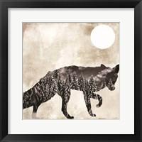 Going Wild Fox Framed Print