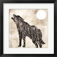 Going Wild Wolf Framed Print