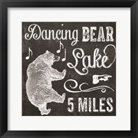 Dancing Bear Lake Framed Print