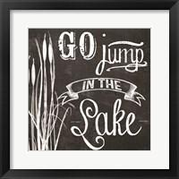 Go Jump in the Lake Framed Print