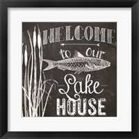 Welcome to Our Lake House Framed Print