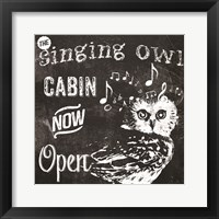 Singing Owl Cabin Framed Print