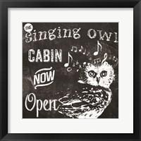 Singing Owl Cabin Framed Print