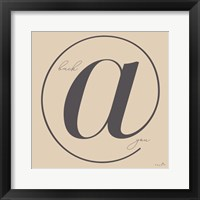 Wordplay I Framed Print