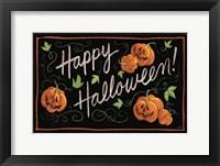 Framed Happy Halloween Jack O Lanterns
