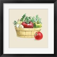 Fresh From The Garden I Cream Framed Print
