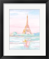 Pastel Paris V Framed Print