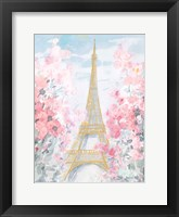 Pastel Paris III Framed Print
