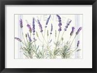 Framed Floursack Lavender V