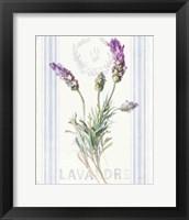 Floursack Lavender II Framed Print