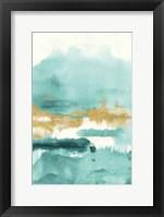 Blue Saffron II Framed Print