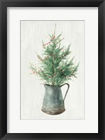 White and Bright Christmas Tree II Framed Print