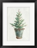 White and Bright Christmas Tree I Framed Print