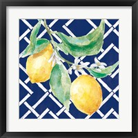 Everyday Chinoiserie Lemons I Framed Print