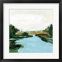 Framed River Flowing Through