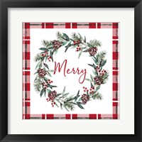 Merry Red Framed Print