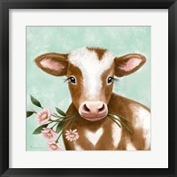 Farmhouse Cow II Framed Print