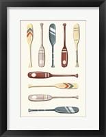 Oar Collection I Framed Print