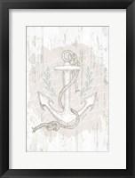 Calming Coastal Anchor Framed Print