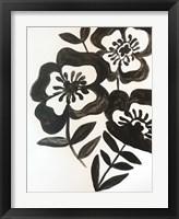 Framed Black Watercolor