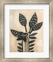 Framed Black Leaves