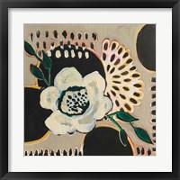 Framed Flower and Black Circles