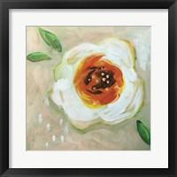 Framed White Flower
