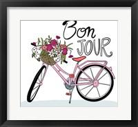 Framed Bon Jour